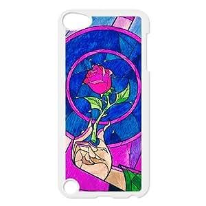 Diseño casos ipod Touch 5 Cell funda blanca y la bestia Prwdxv impreso cubierta