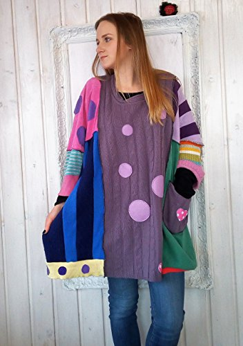 Multicolored Polka Dots All sizes Poncho Coat