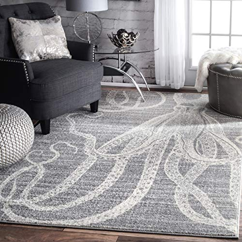 nuLOOM Thomas Paul Octopus Area Rug, 4 x 6 , Grey