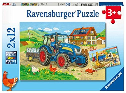 (Ravensburger Puzzle 07616Building Site and Farm)