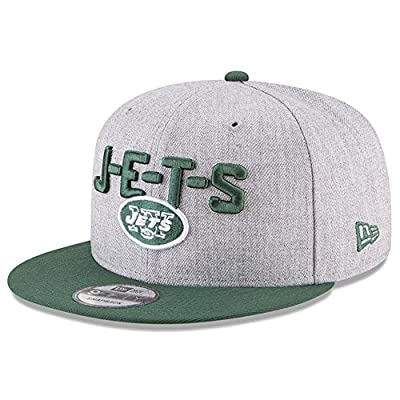 New Era Authentic New York Jets Heather Gray/Green 2018 NFL Draft Official On-Stage 9FIFTY Snapback Adjustable Hat