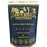 NEW - John's Killer Protein - Grass fed native protein without any sweeteners or artificial flavors. Non-GMO, gluten & soy free, lecithin free, rBST/rBGH free. Unflavored & unsweetened pure protein.