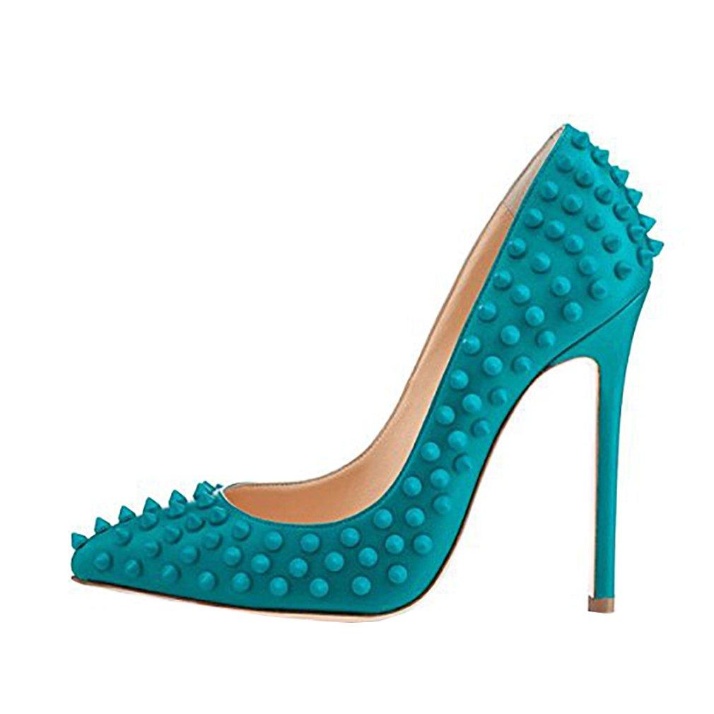 Vaneel Mujer Cmnkoj Tacón De Aguja 12CM Sintético Ponerse Zapatos de tacón 38.5 EU Azul