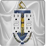 Rikki Knight 2694 Gfidouble Massachusetts State Flag Design Light Switch Plate