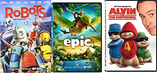 New Used Dvds Alvin The Chipmunks Epic Robots Dvd Cartoons