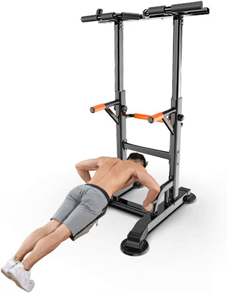 TANGON Dip Station Chin Up Bar Power Tower Pull Push Home Gym Fitness Core Pull Up Bar Doorway with Ergonomic Grip for Home Gym Exercise【USA Stock 】