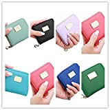 Pausseo Women Leather Small Wallet Card Holder Zip Coin Purse Clutch Handbag Coin Bag Key Holder Cosmetic Bag Makeup Case Shopping Packages Pencil Case Pen Bag for School Supplies (I=A+B+C+D+E+F+G+H)