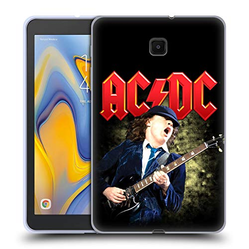Official AC/DC ACDC Angus Young Guitar Solo Soft Gel Case Compatible for Galaxy Tab A 8.0 (2018)