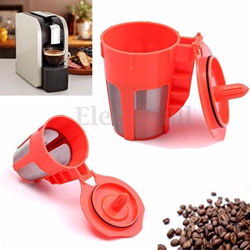 1 Pack Orange Refillable K-Carafe Reusable Coffee Filter Replacement For Keurig