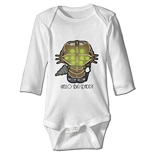 [Raymond Hello Big Daddy Long Sleeve Bodysuit Outfits White 18 Months] (Forrest Gump Kid Costume)