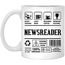 Newsreader Coffee Mug - features and benefits of Newsreader - Newsreader Gifts for Men, Women,For Best Friend - Holiday Birthday Gift for Newsreader - 11Oz tea cup White