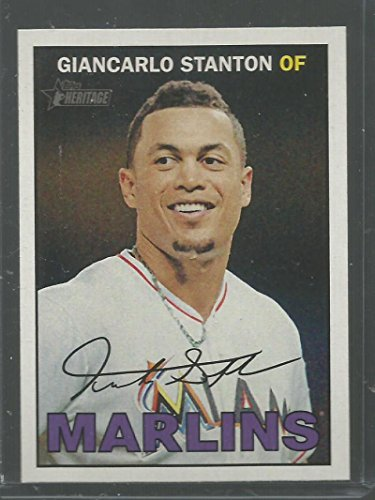 Stanton Single (Baseball MLB 2016 Topps Heritage #322 Giancarlo Stanton NM-MT Marlins)