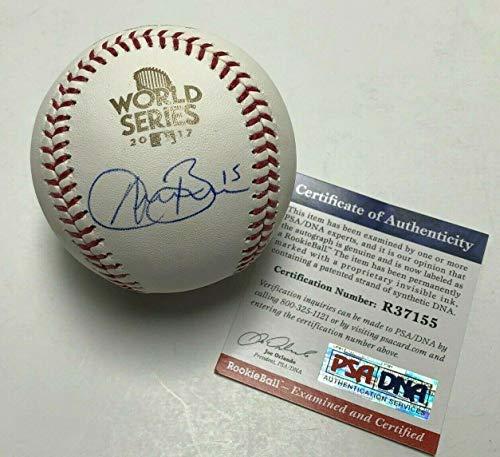 Signed Austin Barnes Baseball - 2017 World Series Major League WSMLB R37155 - PSA/DNA Certified - Autographed -