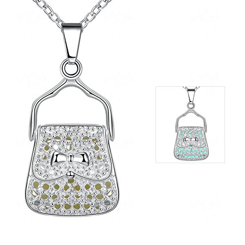 Valentine's Day Gifts Glow in the Dark Best Friend Girlfriend Owl Necklaces Couples Necklace Glow Bracelets Friendship Hollow Out Necklace with Jewelry Box (Tahitian Costumes Etsy)