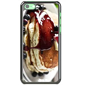 Apple iPhone 5C Cases Customized Gifts Of Food and Drink food pancakes delight Black
