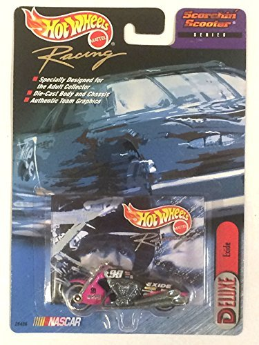 (Hot Wheels Racing - NASCAR - Scorchin' Scooter Series - Deluxe: Exide #99 Motorcycle (Black/Pink))
