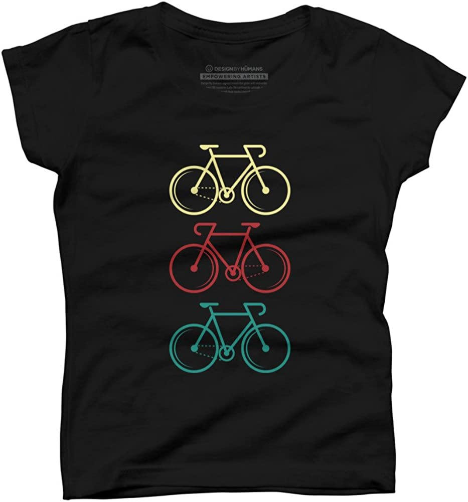 Design By Humans Bike Girls Youth Graphic T Shirt