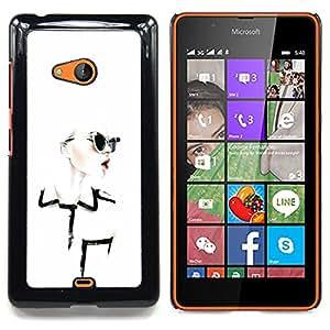 Stuss Case / Funda Carcasa protectora - Diseñar ropa Chique Glamorous - Nokia Lumia 540