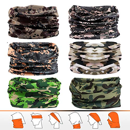 - Headwear, Bandana, Neck Gaiter, Head Wrap, Headband for Men and Women, Multifunctional Head Scarf, Face Mask, Balaclava, Magic Scarf, Sweatband for Fishing, Yoga, Running, Motorcycling (6pcs/9pcs)