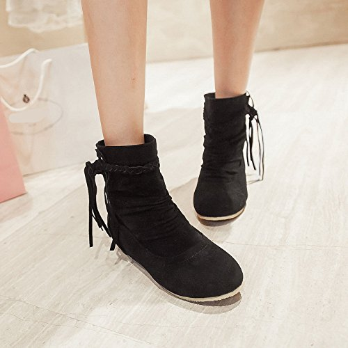 Ankle Black Motorcycle Wedge Boots Boots Warm Snow Dress Women Boots Short everydaysell900 SxC7n7