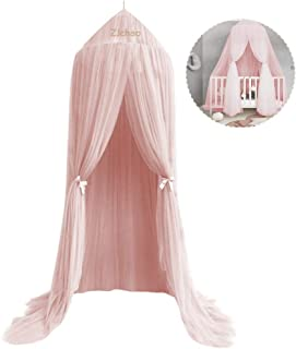 Mosquito Net Canopy, High Density Polyester Grenadine Dome Princess Dreamy Bed Tents for Childrens Reading Play Indoor Games House Kids Room Decorate (Light Gray)