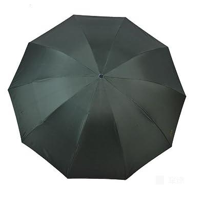 10 OS Anti-Vent Grand Parapluie Pliant, Hommes Et Femmes VisièRe Trois Fois Parasol De Mode Business Noir Parapluie En Plastique