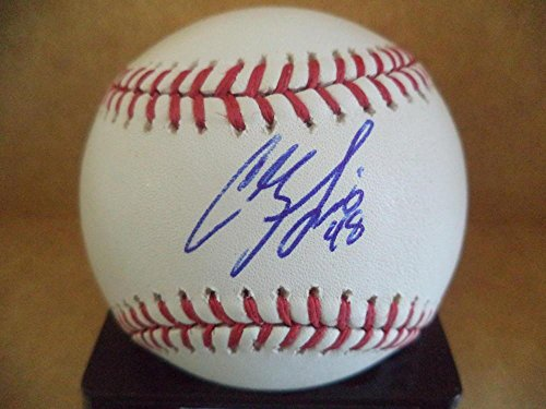 Colby Lewis Autographed Baseball - M l W coa - Autographed -