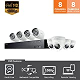 Samsung Wisenet  SDH-C74083HFN 8 Channel Full HD Video Security System with 2TB HDD, 4 Bullet Cameras and 4 Dome Cameras