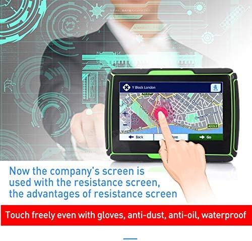 Beauneo Aggiornato 256M RAM 8GB 4.3 Pollici Moto Navigatore GPS Impermeabile del Motociclo di GPS Auto Navigation Mappa Europa