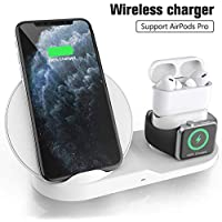 Wireless Charger for AirPods Pro, Miuly 3 in 1 Wireless Charging Station,Wireless Charging Stand Watch Charger Compatible with iPhone 11/11 pro /11 Pro Max/Xs/XS Max/XR/X / 8 /8P