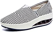 Orlancy Women's Canvas Platform Casual Loafers Shape