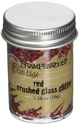 STAMPENDOUS Glass Glitter 1.38 Ounce-Red