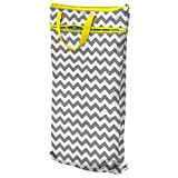 Planet Wise Hanging Wet/Dry Bag, Gray Chevron