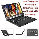 Lenovo YOGA Tablet 3 pro 10 Keyboard case, KuGi ® High quality Ultra-thin Detachable Bluetooth Keyboard Stand Portfolio Case / Cover for Lenovo YOGA Tab 3 pro 10 tablet. (Black)
