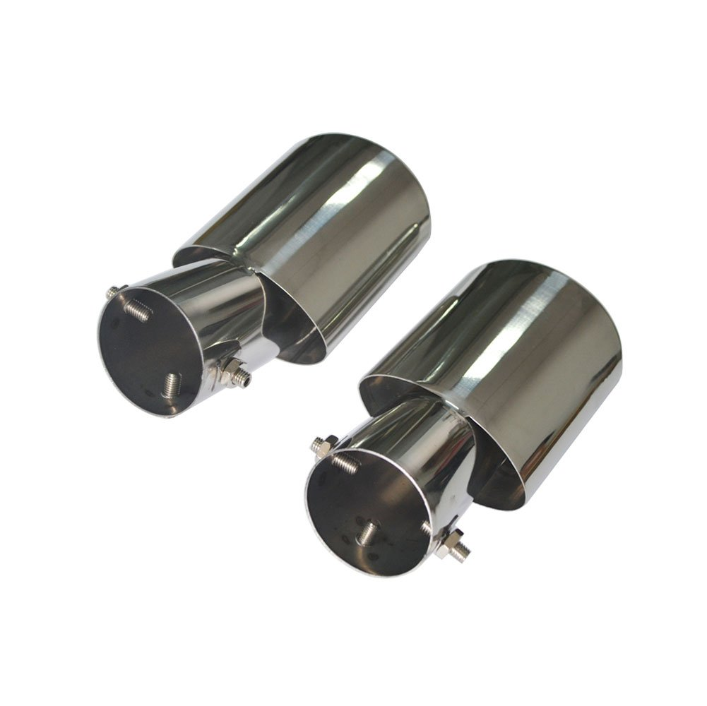 Rear Exhaust Tips Muffler End Pipe For Honda Civic Sedan 2016 2017 2018 Extended Silver Stainless Steel 2pcs Accessories Parts Eiseng