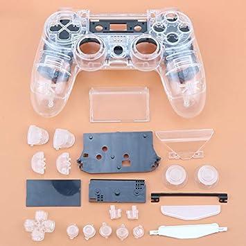 Carcasa Completa con Botones para Mando inalámbrico Sony Playstation 4 PS4 JDM-011 JDM-001 (Transparente): Amazon.es: Electrónica