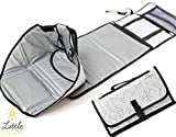 Travel Baby Diaper Changing Pad by Little Sunshine   Waterproof Portable Mat for Newborns, Infants and Toddlers   The Ultimate Diapering Kit   Organizer, Changing Station and Play Mat  