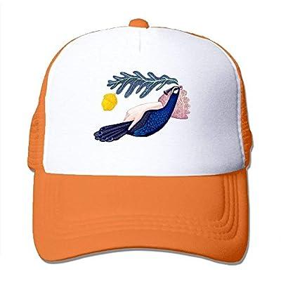 Peacock Adjustable Snapback Baseball Cap Custom Mesh Trucker Hat by cxms