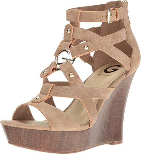 G by GUESS Women's Dodge Natural Sandal