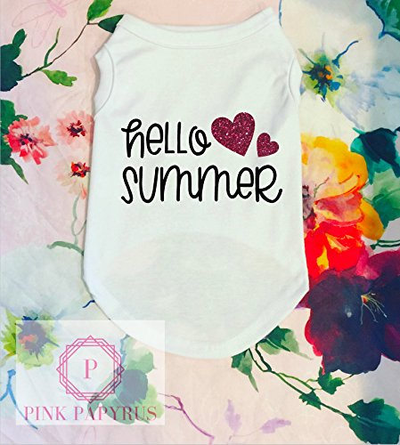 Hello Summer Dog Shirt by Pink Papyrus Co.