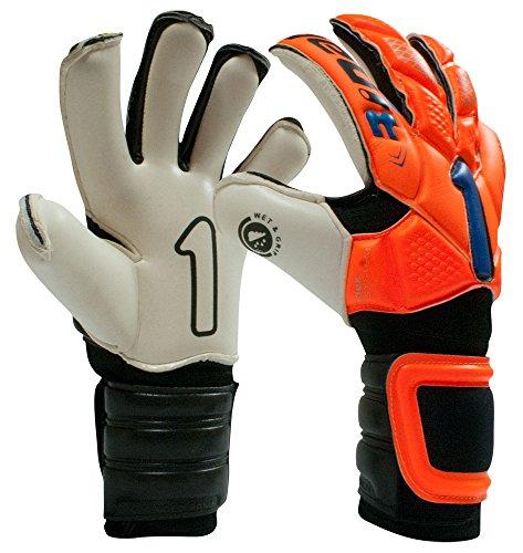 (Rinat Egotiko Professional Goalkeeper Glove (ORANGE/BLUE, 11))