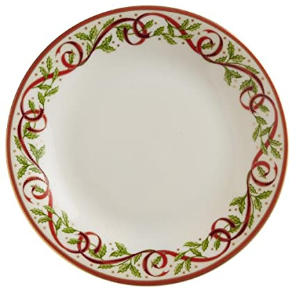 Image of Pickard'Winter Festival' Fine China 6-1/4-Inch Butter Plate, Set of 4 Bread & Butter Plates