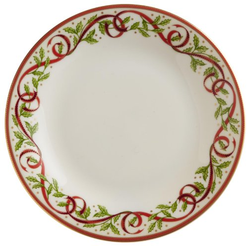 """Pickard""""Winter Festival"""" Fine China 6-1/4-Inch Butter Plate, Set of 4"""