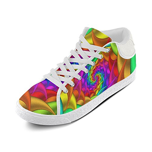 Artsadd Psykedelisk Rainbow Spiral Chukka Canvas Sko For Menn (model003)