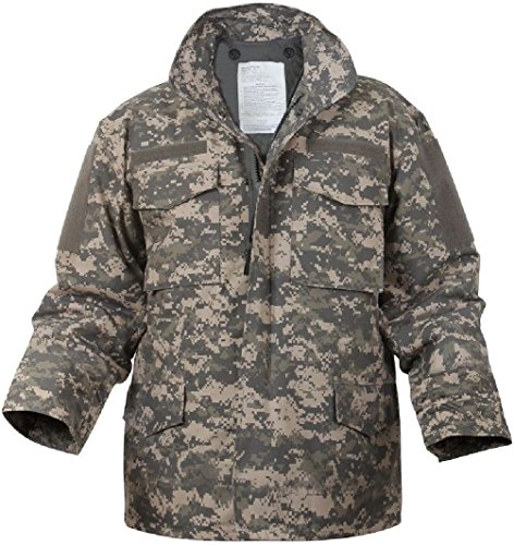 - Bellawjace Clothing ACU Digital Camouflage Army Military M-65 Field Jacket Coat With Liner