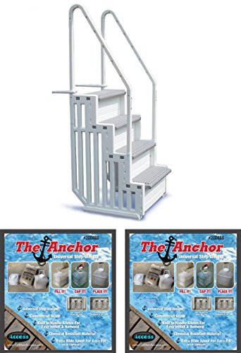 new-confer-step-1-above-ground-pool-ladder-step-system-entry-with-2-sand-weights