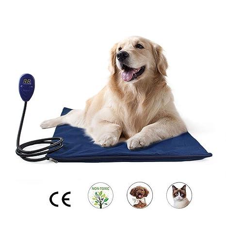 KOBWA - Almohadilla calefactora eléctrica para Mascotas, Perros, Gatos, Conejo, Calentador Ajustable