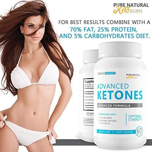 Advanced Ketones - Advanced Formula - Keto Diet Pills - Boost Ketosis with These Magnesium Bhb Exogenous Ketones - Burn More Fat - Burn Fat Faster - Stay in Ketosis Longer - Feel Mentally Focused 7