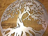 Cheap 18″ to 30″ Tree of Life Steel Home Decor wall art