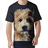 Mens Labradoodle Dog Face 100% Contton Short Sleeves tshirt.